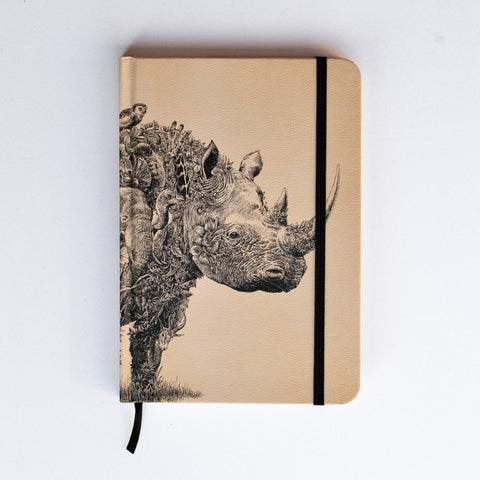 Black Rhino - Hard Cover Writing Journal