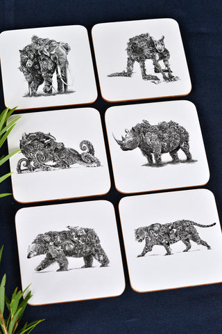 Animal Earth Coaster Set - By Maxwell & Williams