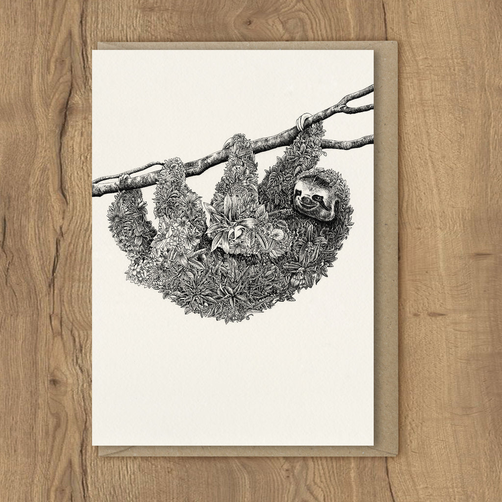 Sloth - Greeting Cards