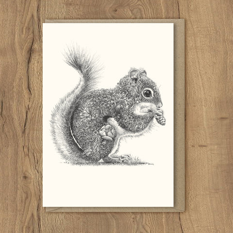 Red Squirrel - Greeting Cards