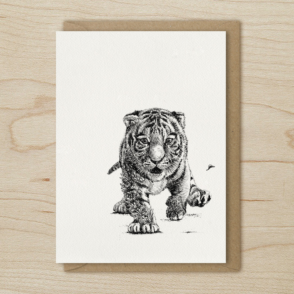 Sumatran Tiger Cub - Greeting Cards