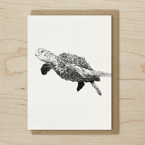 Green Sea Turtle - Greeting Cards