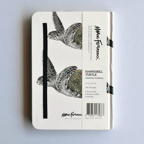 Hawksbill Sea Turtle - Hard Cover Writing Journal