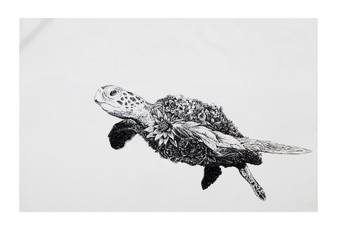 Green Sea Turtle - Tea Towel