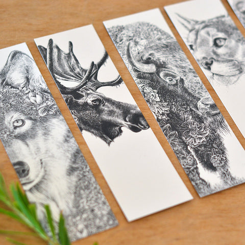 North American Wildlife - Bookmark Set of 8