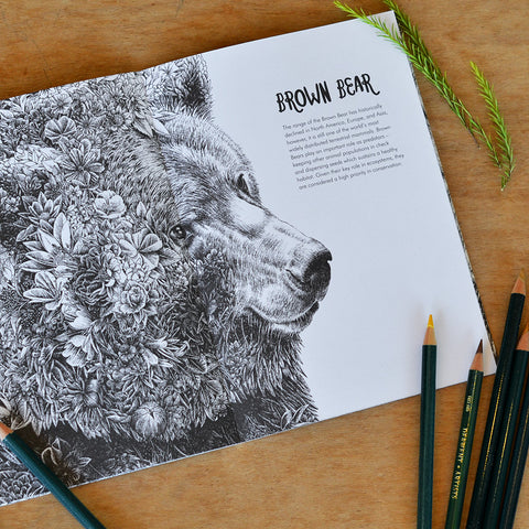 Wild America - Colouring Book (A5 Size)