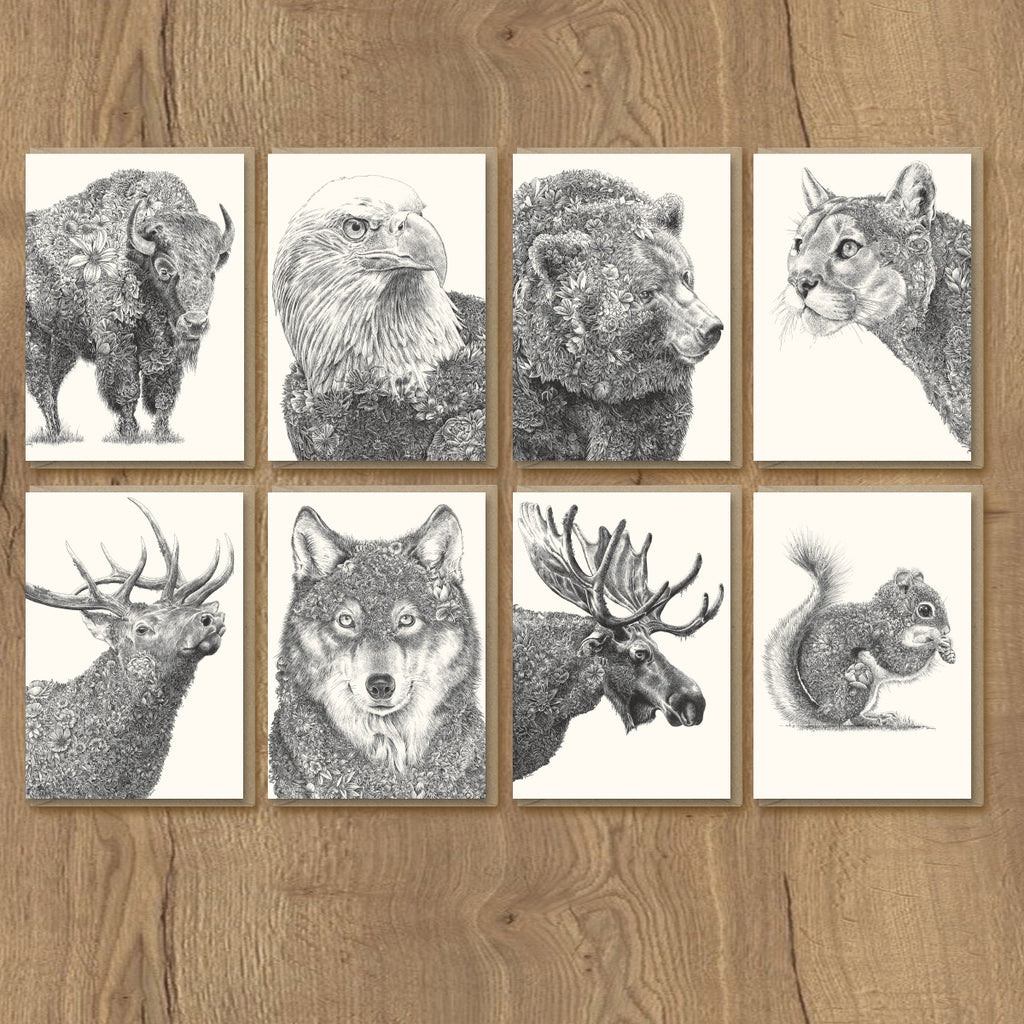North American Wildlife - Greeting Card Set