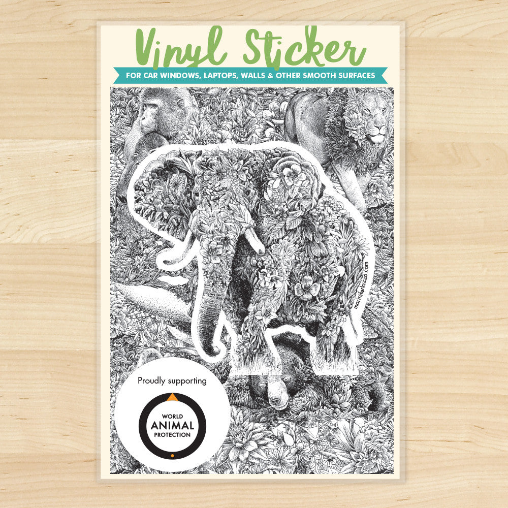African Elephant - Vinyl Sticker