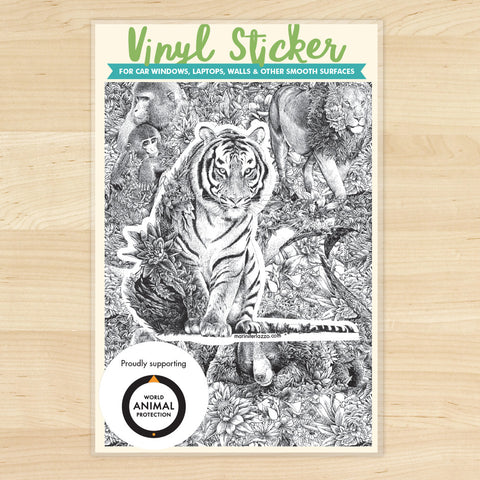 Bengal Tiger - Vinyl Sticker