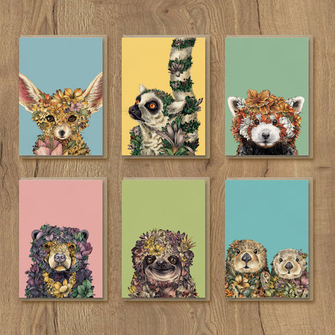 Wild Planet Portrait Series - Greeting Card Set