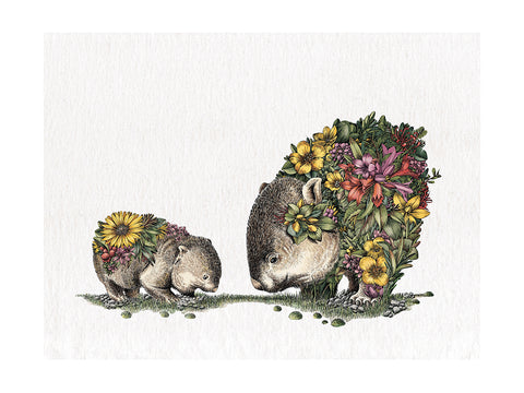 Wombat & Joey- Tea Towel