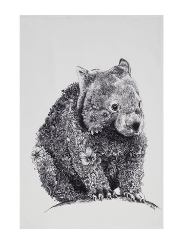 Wombat - Tea Towel