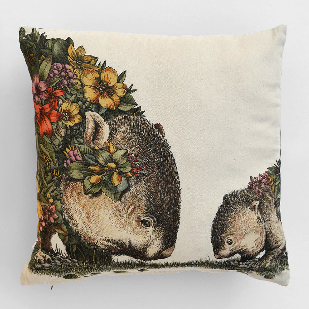 Wombat & Joey - Cushion Cover