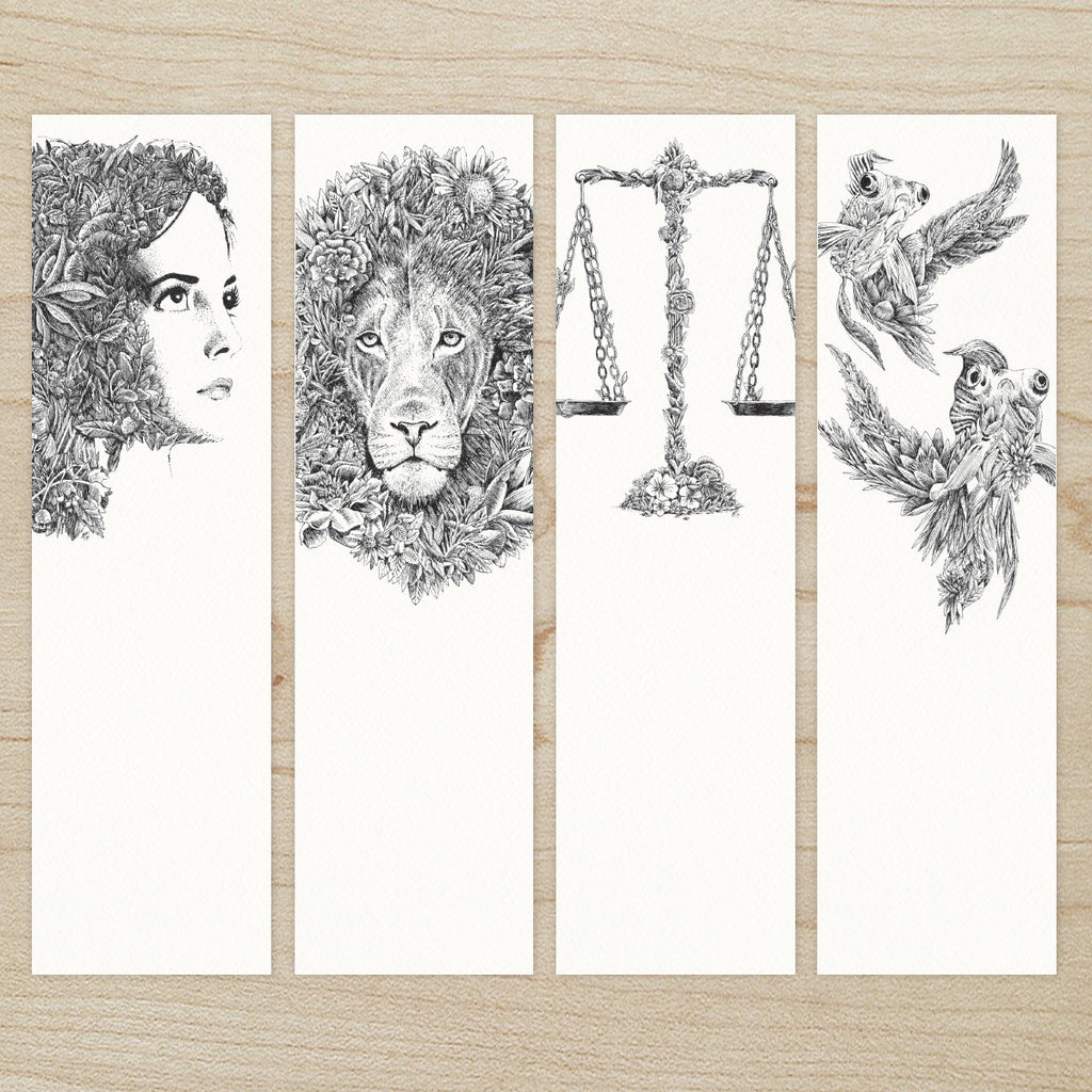 The Twelve Zodiacs - Bookmark Set of 12