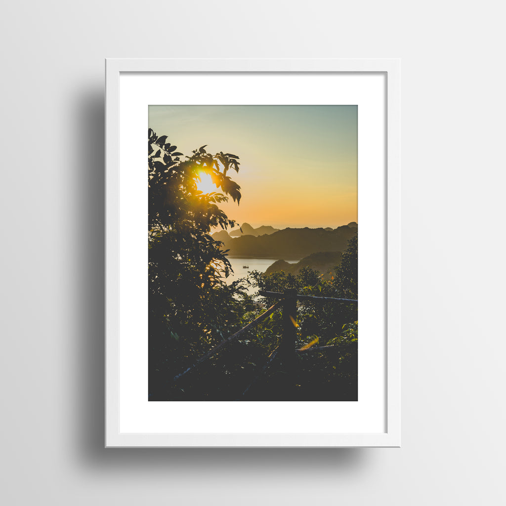 """Hazy Golden Hour"" Print by Jon Mesic, 18x24"""