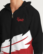 Load image into Gallery viewer, Large Feather - Windbreaker - Red / Black / White-Jackets-Equris