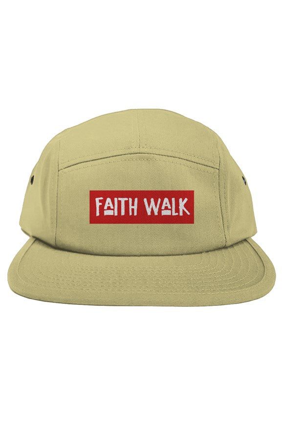 Faith Walk 5 Panel Khaki Hat-hats-Equris