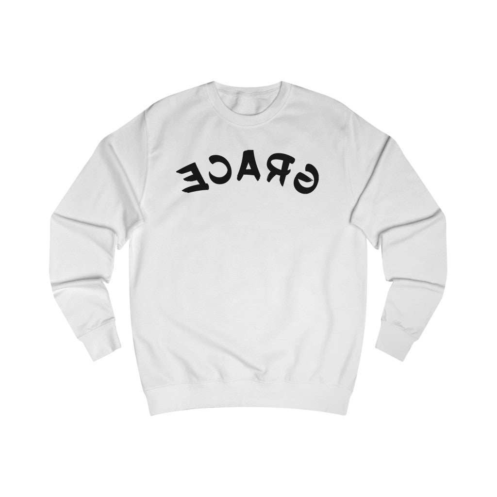 Reflect Grace - White Sweatshirt-Sweatshirt-Equris