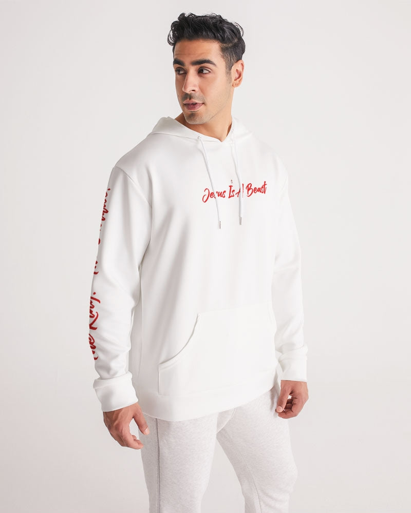 Jesus Is A Beast - Premium Hoodie - White/Red