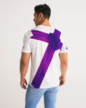 Load image into Gallery viewer, Equris x Reps4Lyfe - Carry Your Cross - White / Royal Purple-T-Shirt-Equris