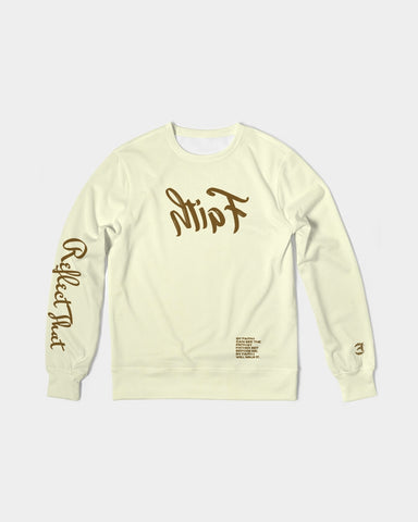 Reflect Faith - French Terry Crewneck - Cream & Chocolate
