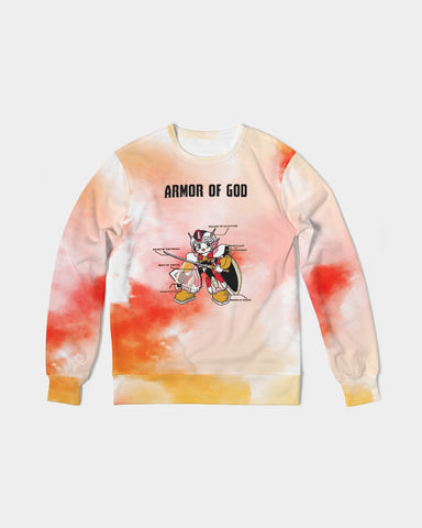 Armor Of God - French Terry Crewneck Sweatshirt  - Peach & Guava