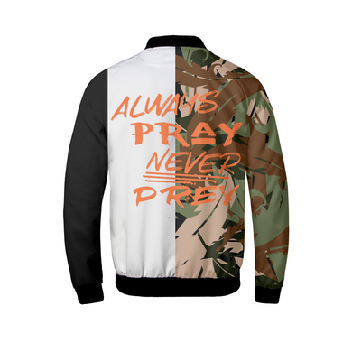 Never Prey Split Bomber Jacket-Jackets-Equris