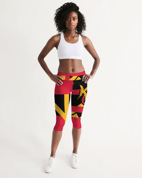 For The Tribe Black Mid-Rise Capri-pants-Equris