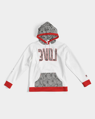 Reflect Love - Premium Hoodie - Cement / Red V2-Hoodie-Equris