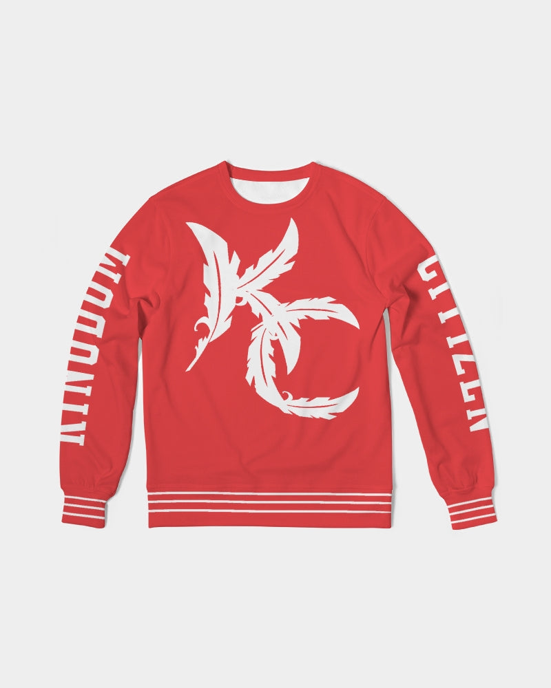 Home Town - French Terry Crewneck - Red / White