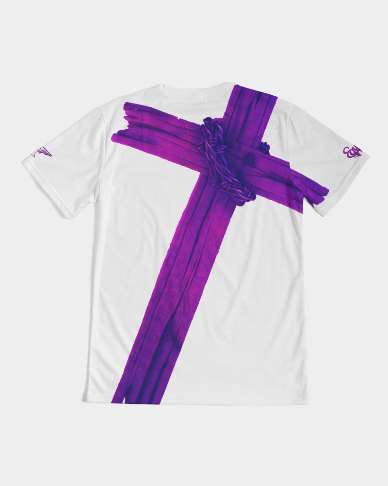 Equris x Reps4Lyfe - Carry Your Cross - White / Royal Purple-T-Shirt-Equris