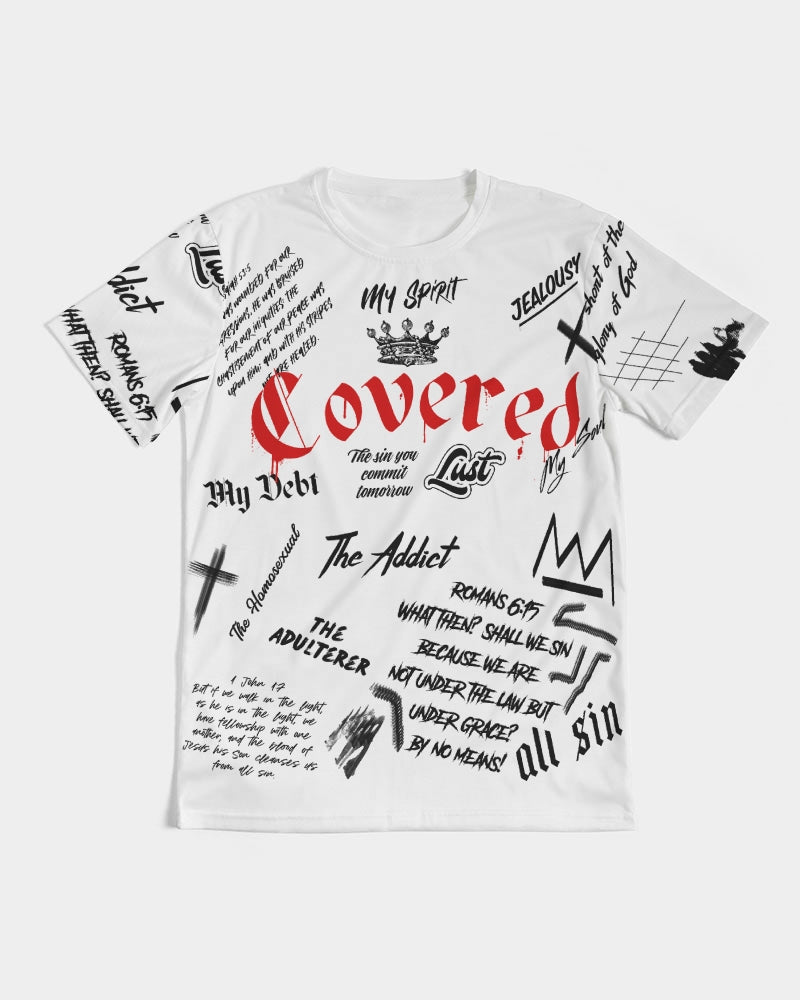 Covered By The Blood - Premium T-Shirt - White