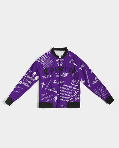 Covered By The Blood - Bomber Jacket - Purple Reign