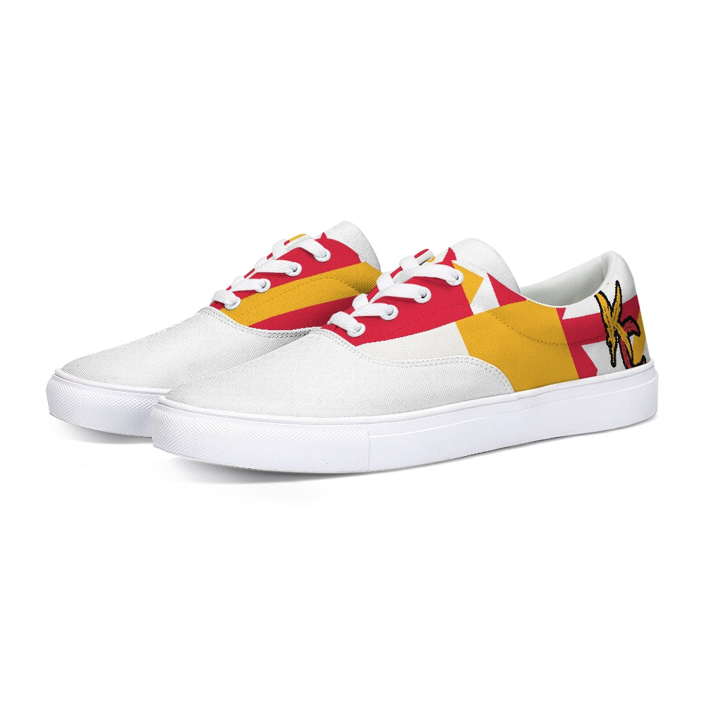 For The Tribe White Canvas Sneakers-shoes-Equris