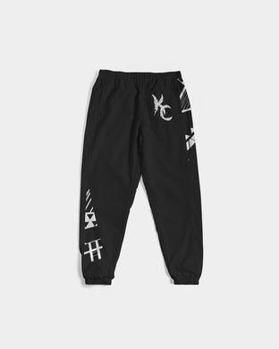 For The Tribe - Track Pants - Black and White-Pants-Equris