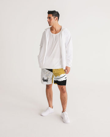 Overflow - Jogging Shorts- Gold / Black / White