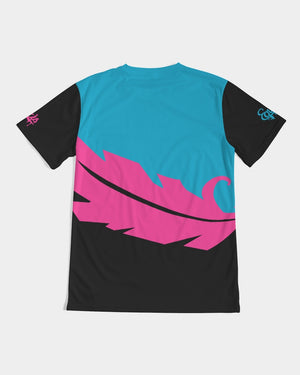 Overflow Premium T-Shirt- Electric Blue/ Black / Cyber Pink