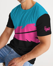 Load image into Gallery viewer, Overflow Premium Tee - Electric Blue/ Black / Cyber Pink