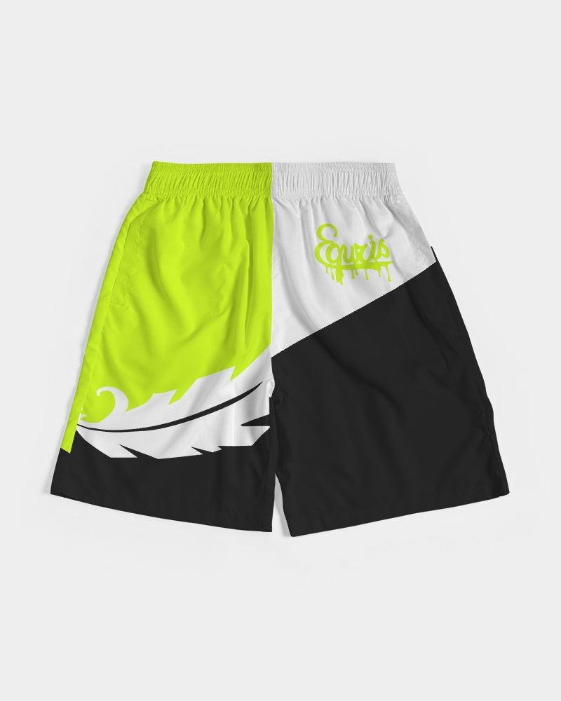 Large Feather - Jogging Shorts- Volt / White / Black