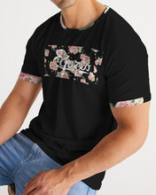 Load image into Gallery viewer, Black Equris Flourish Floral Tee-T-Shirt-Equris
