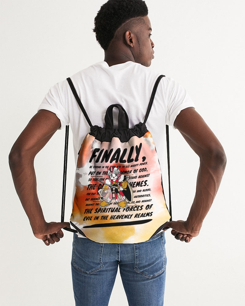 Armor of God - Drawstring Bag - Peach & Guava