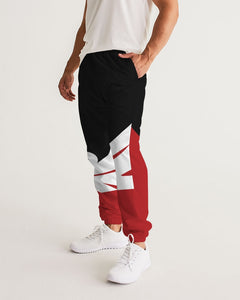 Large Feather - Track Pants - Red / Black / White-Pants-Equris