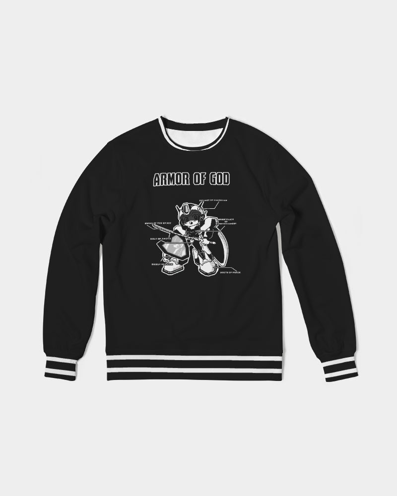 Armor Of God - French Terry Crewneck Sweatshirt  - Black and White