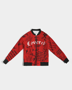Covered By The Blood - Bomber Jacket - Blood Washed
