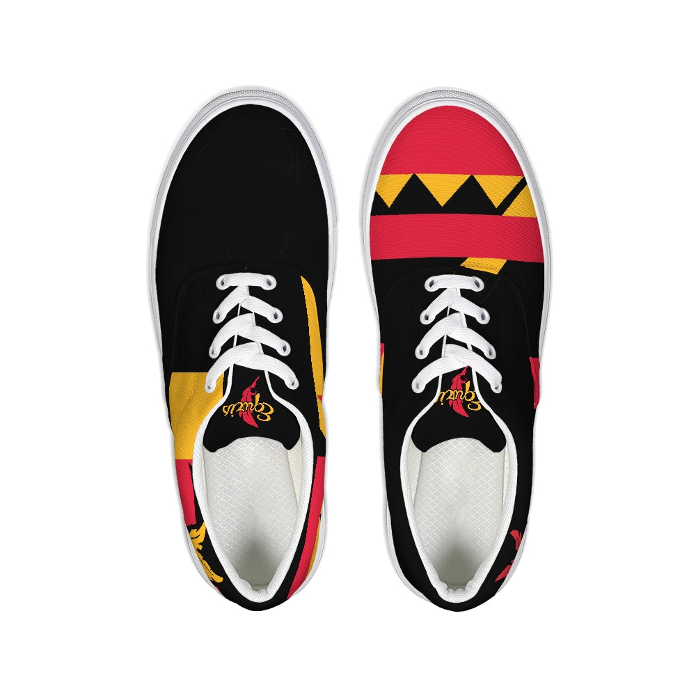 For The Tribe Black Canvas Sneakers-shoes-Equris