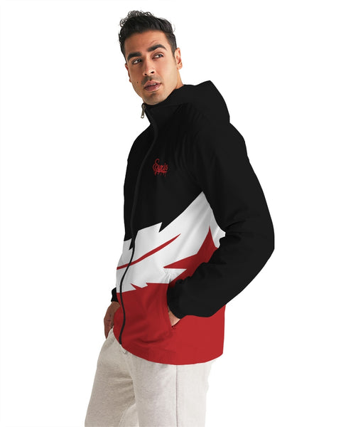 Large Feather - Windbreaker - Red / Black / White-Jackets-Equris