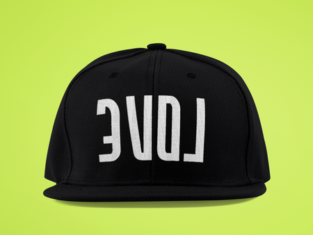 Reflect Love - Black Snapback-hats-Equris