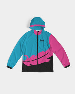 Large Feather - Windbreaker - Electric Blue/ Black / Cyber Pink-Jackets-Equris