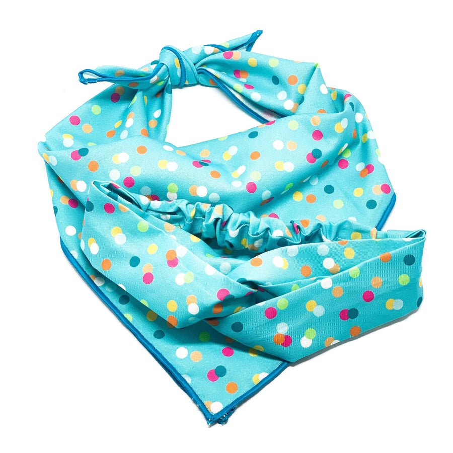 Blue Funfetti Headband Dog Bandana 78 Doggery
