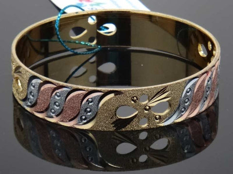 Contemporary design golden bangle